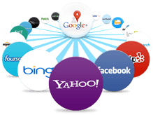 Facebook, Google Local,Yelp and Foursquare